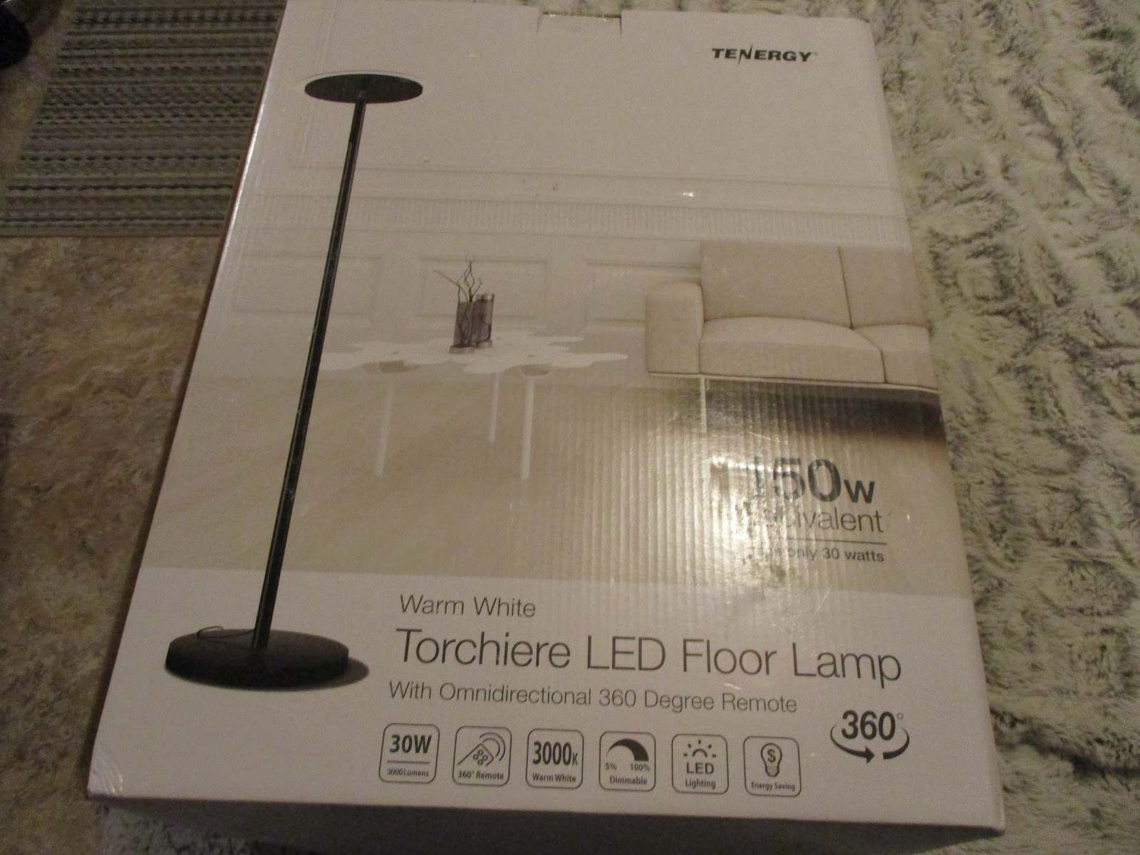 Missys Product Reviews Tenergy Life 70 Torchiere Dimmable Led