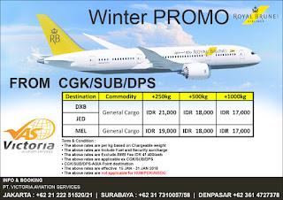 Air Freight Service Jakarta To  Bandar Seri Begawan Istana Kerajaan Brunei Darussalam Via Royal Brunei Cargo