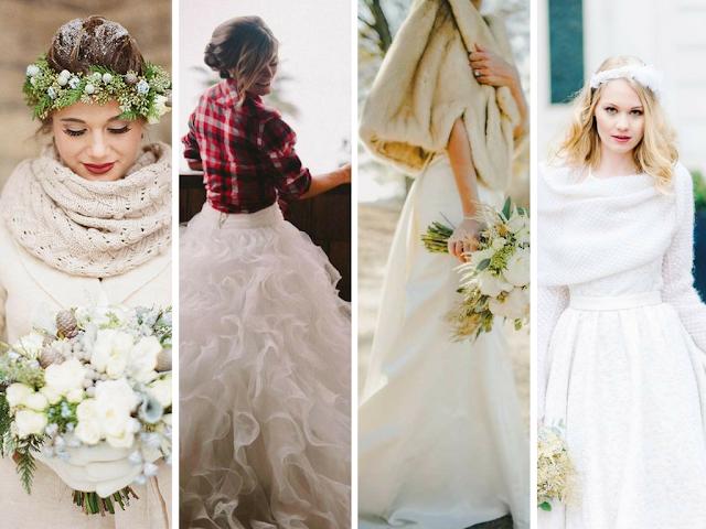 Vestidos de noiva para o Inverno