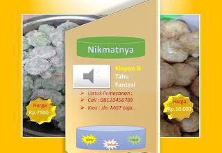 contoh desain brosur kreatif produk kue