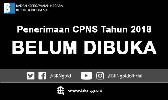 19 september tanggal pasti penerimaan cpns 2018