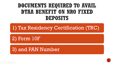 How to save TDS on NRO Fixed Deposit using DTAA