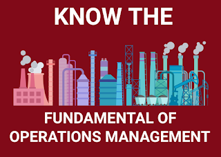 FUNDAMENTALS OF OPERATIONS MANAGEMENT,  UPSC OPTIONAL MANAGEMENT,