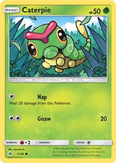 Caterpie Sun and Moon Pokemon Card