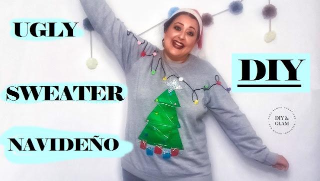 Diy ugly sweater o jersey navideño (feo)