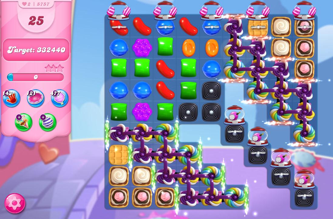Candy Crush Saga level 5757