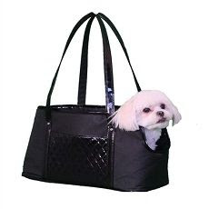 ELLA TOTE DOG CARRIER-BLACK/BLACK