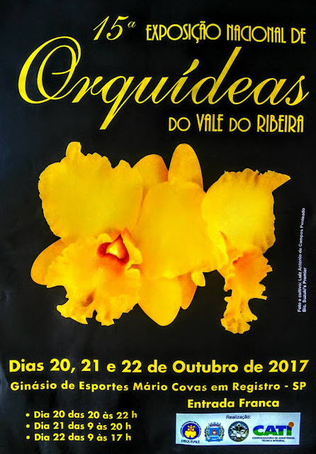 15ª Exposição Nacional de Orquídeas em Registro-SP no Vale do Ribeira