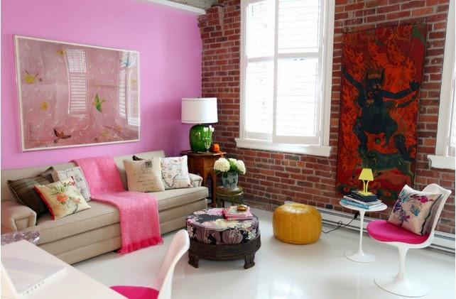 Ketika Anda Akan Menggunakan Warna Pink Untuk Cat Ruang Tamu Bisa Memilih Tua Yang Hampir Mendekati Ungu