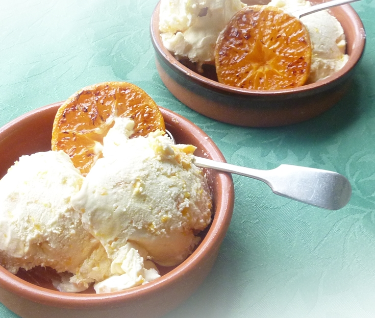 no churn satsuma ice cream