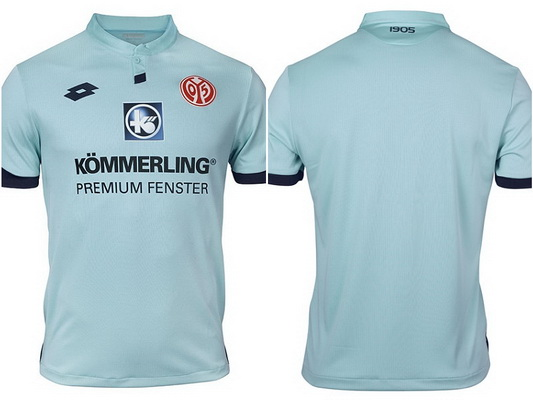 638c3e1e23864 El Camisetas de futbol 2019 FSV Mainz 05 segunda del equipo trae el color  azul celeste como predominante y tiene detalles en azul marino en las  barras y la ...