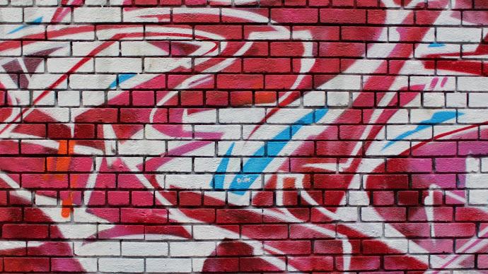 Wallpaper: Graffiti on the Brick Wall