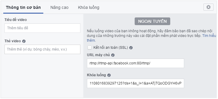 Live facebook bằng code FFmpeg