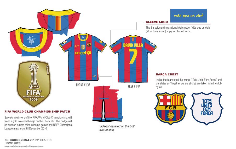 d408afc85 Football teams shirt and kits fan  FC Barcelona 2010-11 Home Shirt