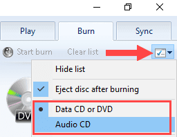 Cara Burning CD atau DVD di Windows 10