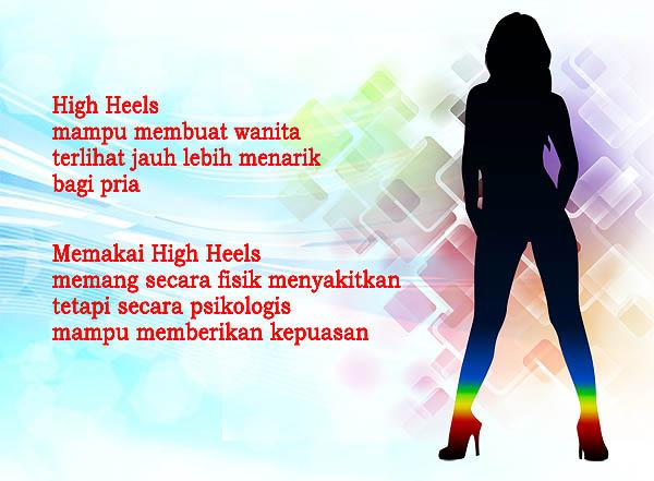 High heels membuat wanita lebih menarik