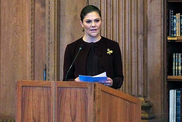 Queen Silvia, Crown Princess Victoria and Prince Daniel attended a seminar for Holocaust Memorial Day