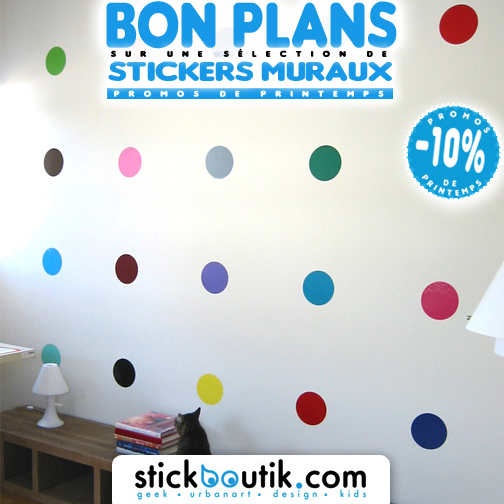 Stickboutik.com - Stickers Spot Paintings à la Damien Hirst à -10%
