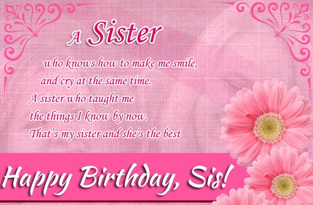 Top 27 images happy birthday wishes for sister and wishes quotes – Birthday Greetings to a Sister Quotes