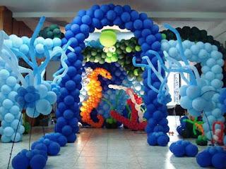 Balon dekorasi Tema Laut