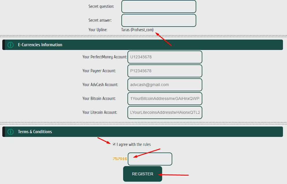 Регистрация в Wolf Invest 2