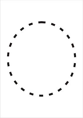 Vogais Pontilhadas - Letra O