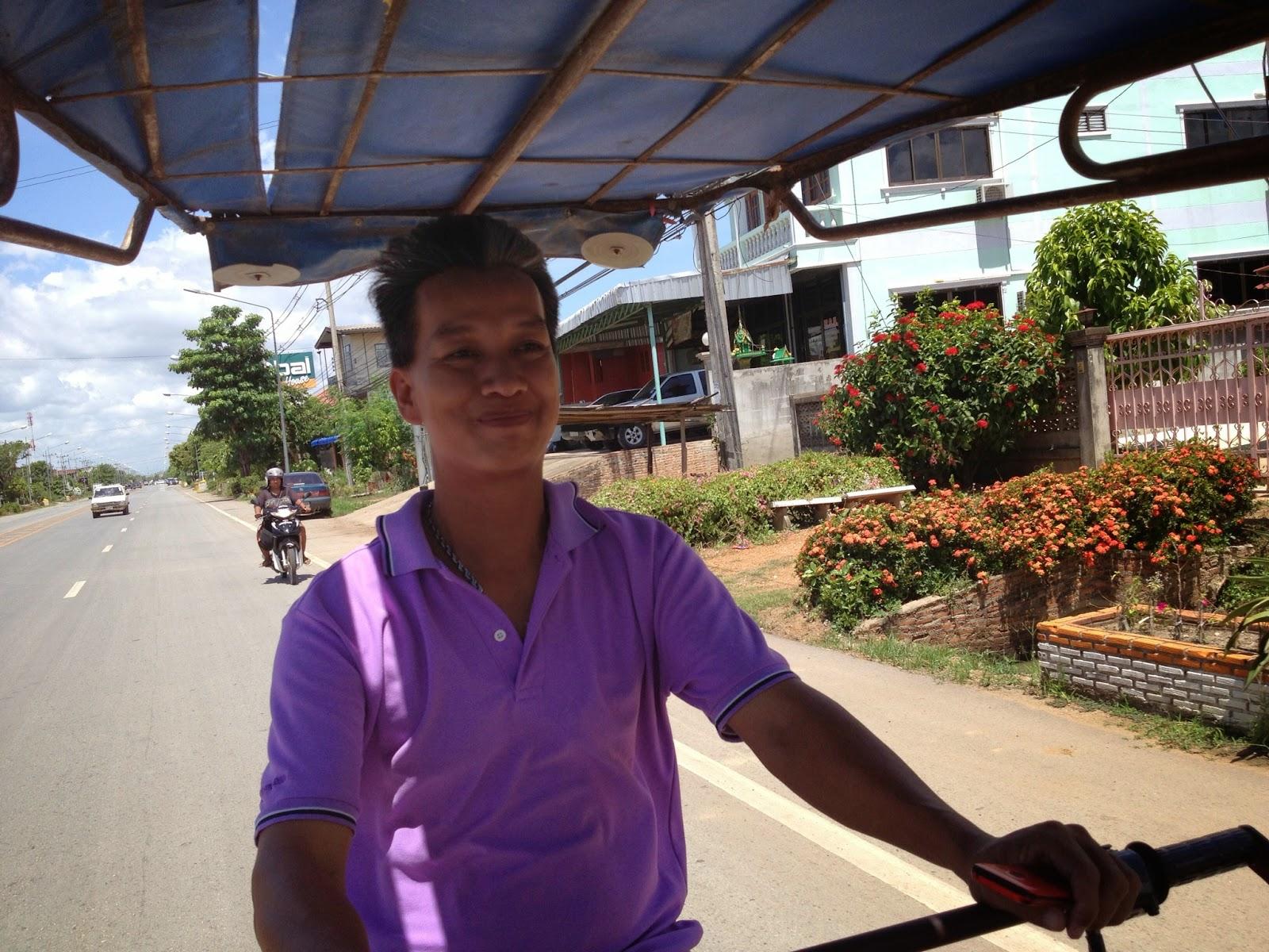 Old Sukhothai - Prajin behind the wheel