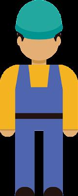 İşçi Vektör Çizim