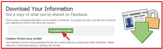 backup your facebook account