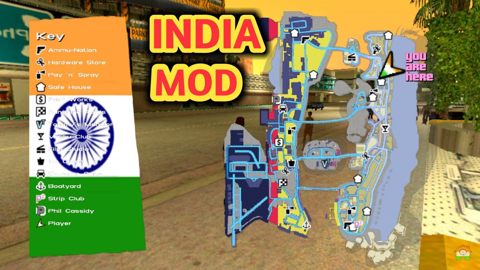 GTA Vice City - INDIAN Controls + Radar Map Android MOD