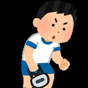 握力測定のイラスト(男の子)