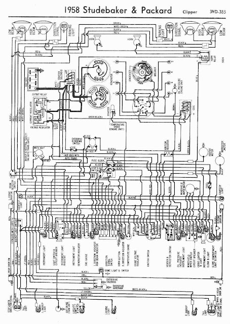 1958 Studebaker and Packard Clipper Wiring Diagram | coll circuit