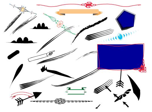 ตัวอย่างการวาดมั่ว ๆ โดยเครื่องมือต่างๆ คู่กับ Style