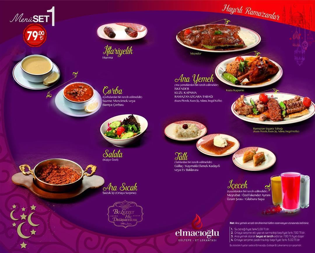 elmacıoğlu et lokantası kayseri ramazan iftar menüleri kayseri iftar mekanları