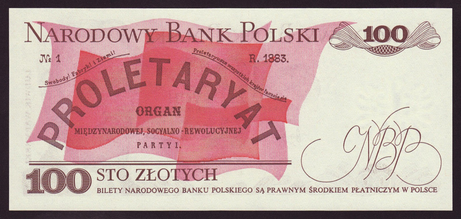 Poland Banknotes 100 Zloty banknote 1975 Proletariat