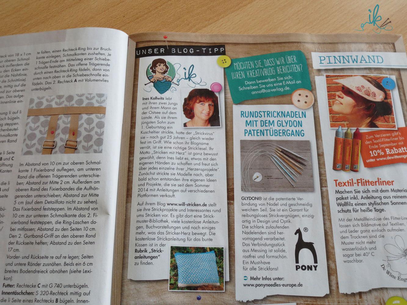 Blog Tipp in der Zeitschrift Anna