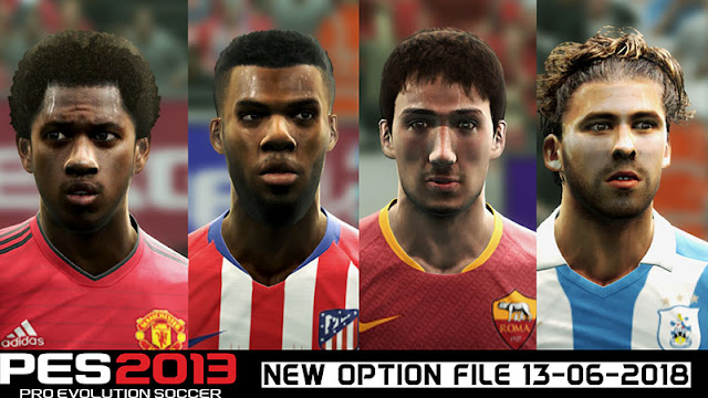 PES 2013 Next Season 2019 Option File 13-06-2018