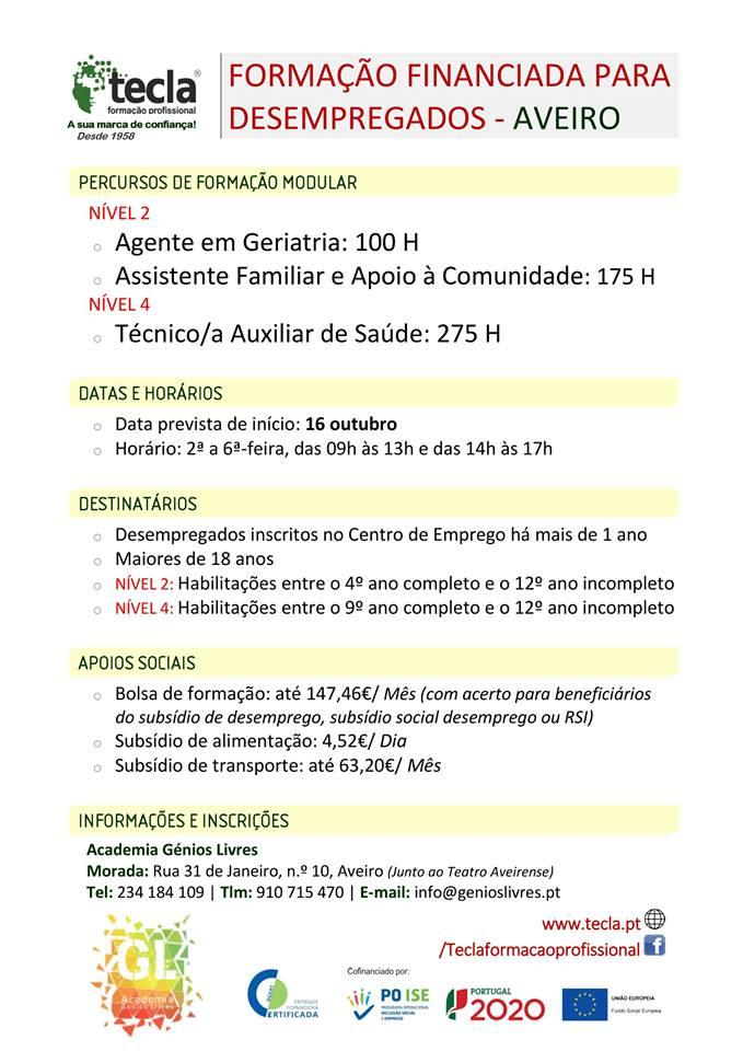 Cursos remunerados em Aveiro