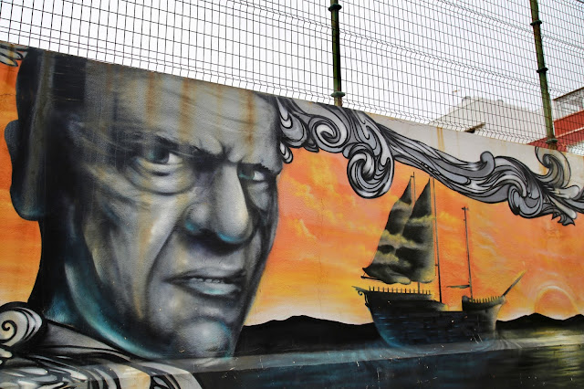 street art. Christopher Columbus. Gran Canaria. Pic:Kerstin Rodgers/msmarmitelover