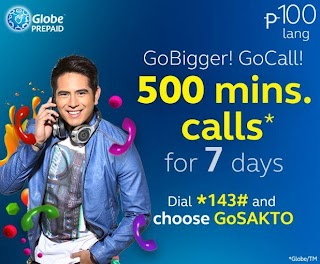 Globe go bigger with GOCALL100 promo, call up 500 minutes for 7 days