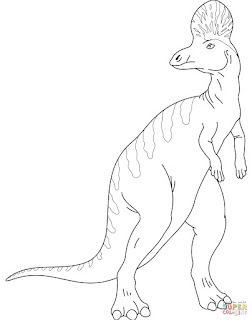 Printable Compsognathus Coloring Sheet