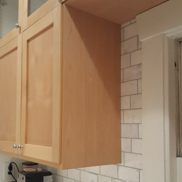Installed Custom Ikea Cover Panel