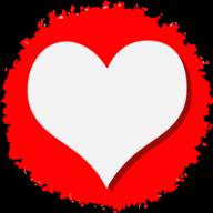 heart social button