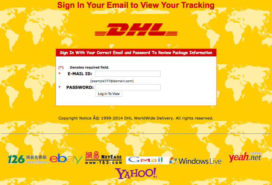 Scam : DHL Shipping document (DHL Phising)