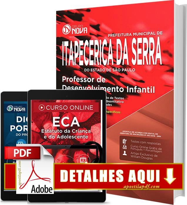 Apostila Prefeitura de Itapecerica da Serra 2016 Professor de Desenvolvimento Infantil Impressa