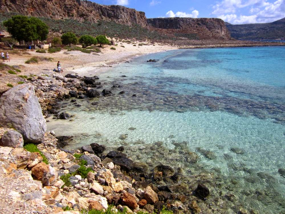 Beach of Gramvoussa in Crete