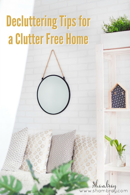 Check out these very easy and simple decluttering tips for a clutter free home.