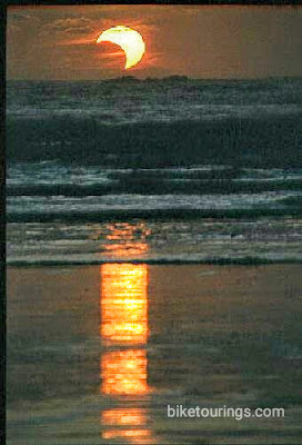 Picture of cloud eclipse of sun at Hobuck Beach, Cape Flattery, Washington