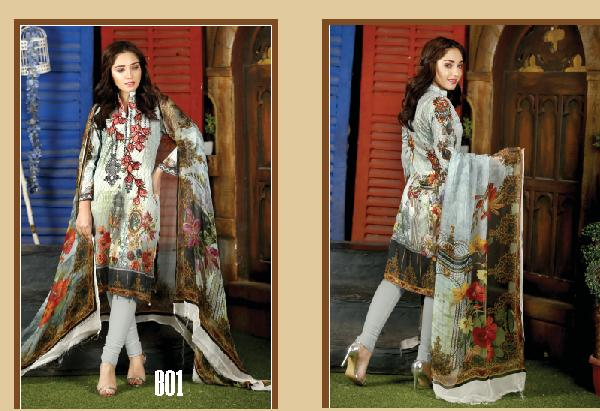5b3890e6f1 4Seasons Fashion: Fiza Noor Embroidered Lawn Collection 2019 Vol 02
