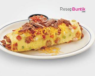 Resep Cara Membuat Omelet Daging, Sajian Daging Enak Kreatif